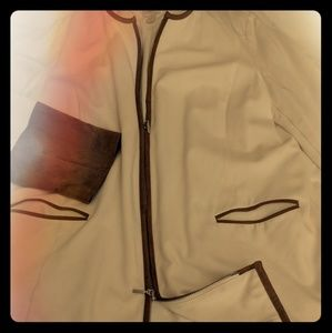 Chico's Faux Suede Trim Ponte Topper Jacket